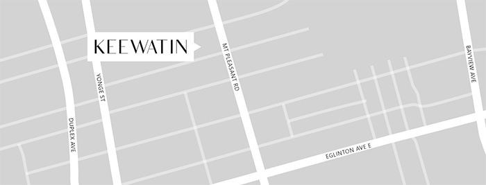 Keewatin townhomes location