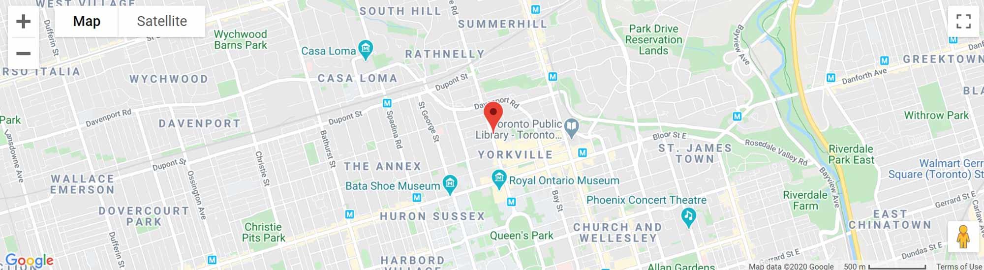 89 Avenue Road condos map