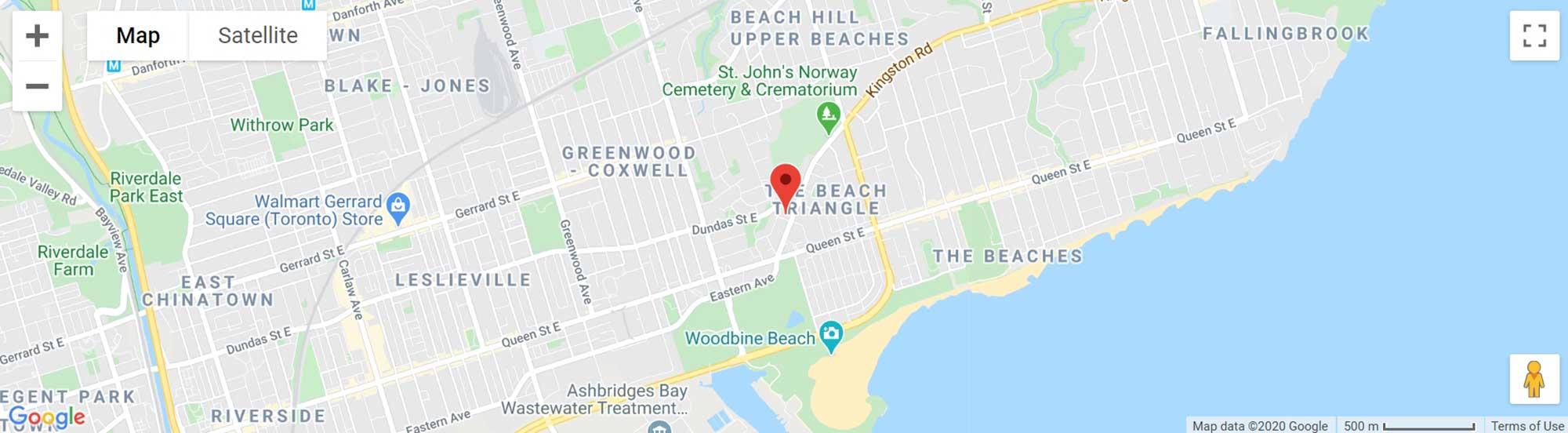 76 Kingston Road map