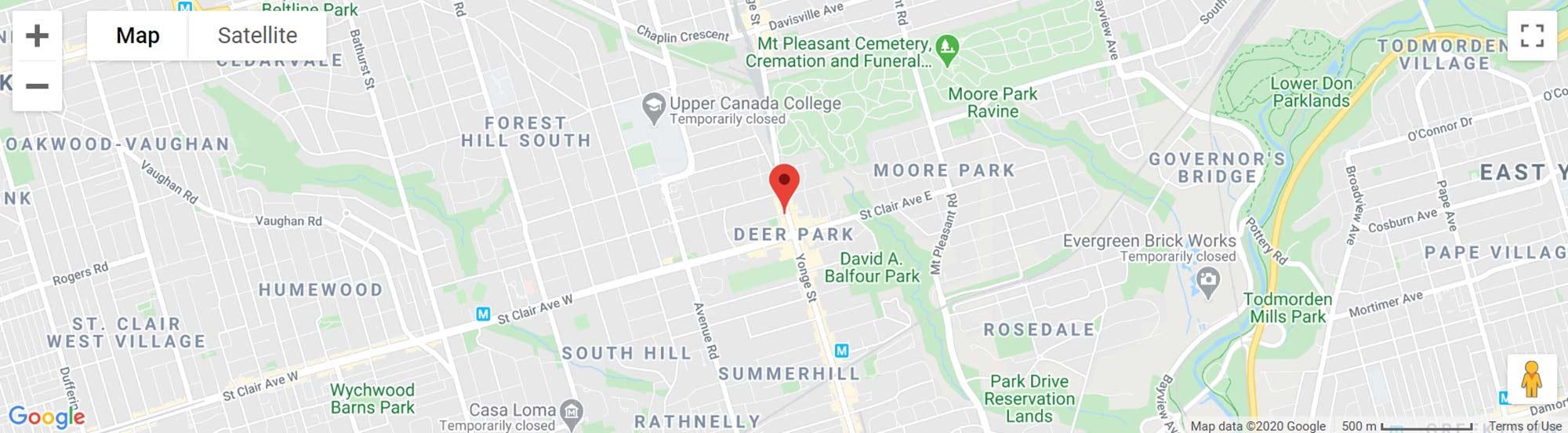 One Delisle Condos Toronto map