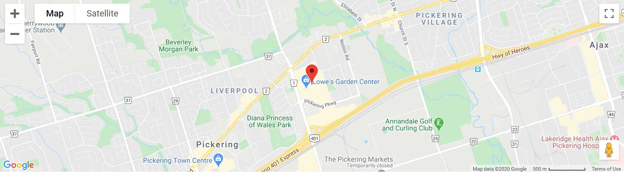 SMARTCENTRES PICKERING on map