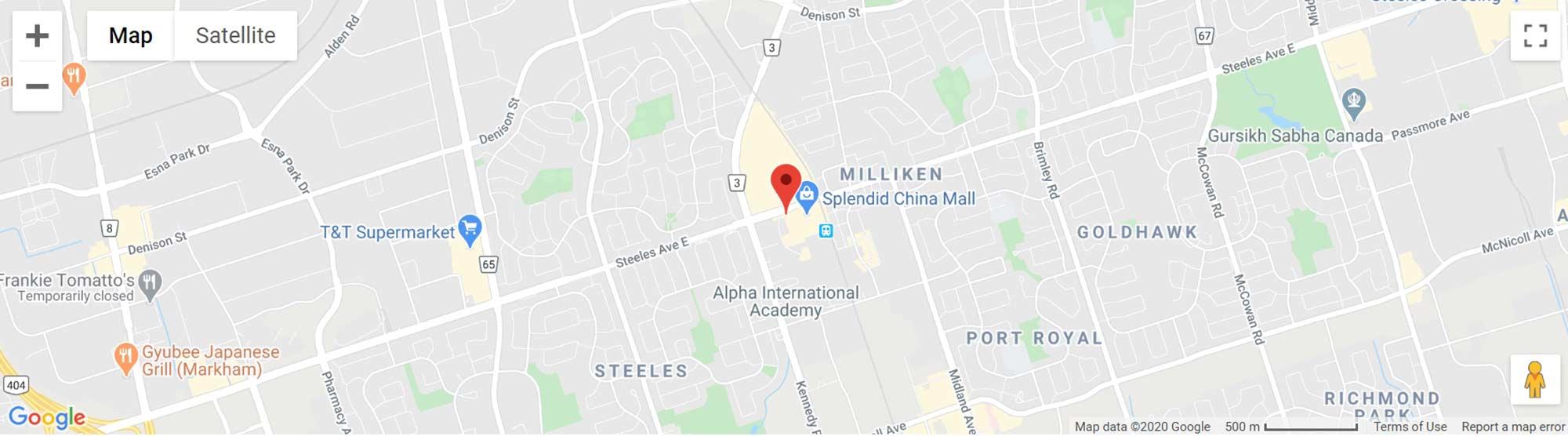 4631 Steeles Avenue East condos map