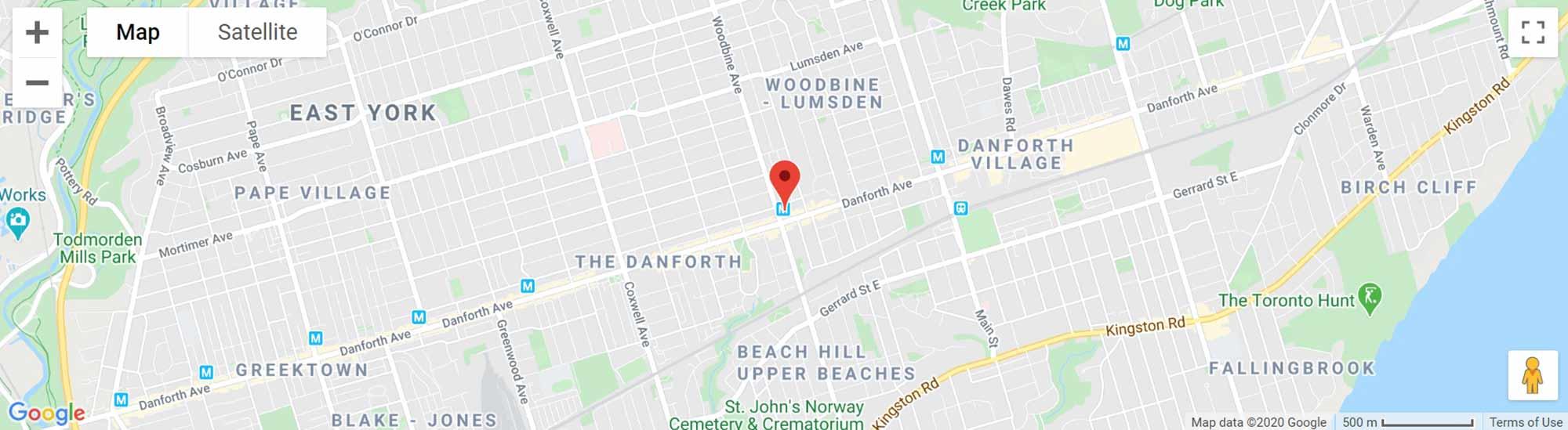 985 Woodbine Avenue Condos map
