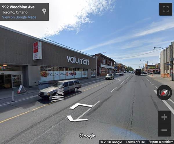 985 Woodbine Avenue Condos street view